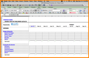 operating plan template operating budget template budget
