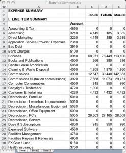 operating plan template summarya