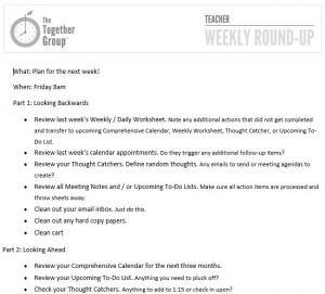 operating plan template the together group weekly round up