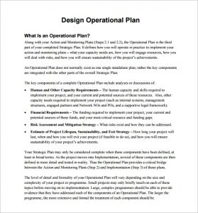 operational plan examples design operational plan free pdf template download
