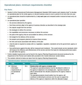 operational plan examples operational plan template pdf
