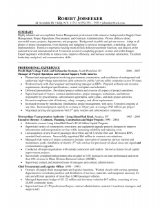 operations manager resume sample program manager resume summary resume template for project manager for program manager resume best template collection robert jobseeker