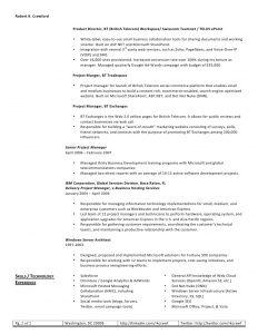 operations manager resume sample robert crawford web resume