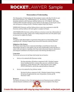 opt employment letter sample memorandum of understanding form template