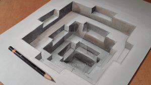 optical illusion drawings hole sandor vamos d optical illusions anamorphic drawings videos www designstack co