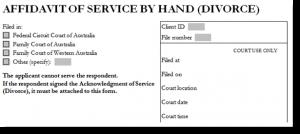 order form example divorce affidavit