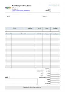 order form template word free editable invoice templates printable