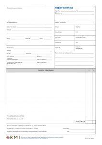 order sheet template rmi web