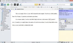 order sheet template scrivener text entry