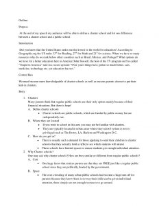 outline for a speech informative speech outline