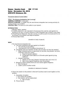 outline for a speech persuasive speech formal outline