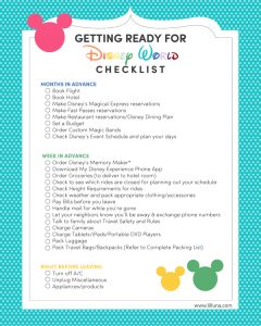 packing list for trip getting ready for disney