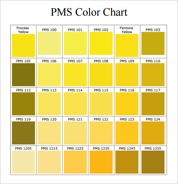 Pantone Color Chart Pdf | Template Business