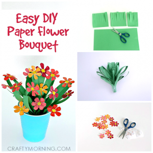 paper cuts templates pretty paper flower bouquet kids craft