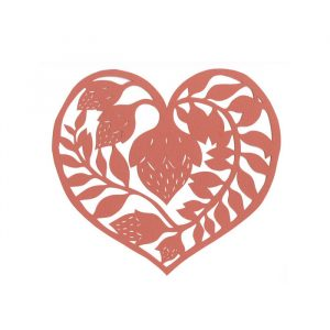 paper cutting patterns heart by elsa mora x