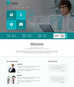 parallax website template free html responsive template for consulting firm