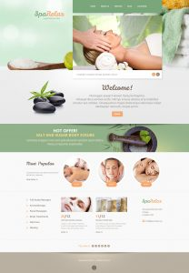 parallax website template spa salon wordpress theme original