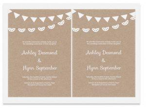 party planner templates free kraft paper printable wedding invitation