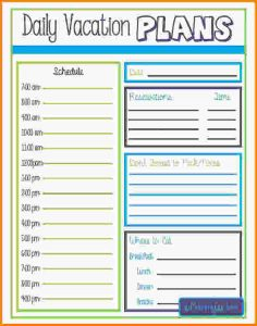 party planning template vacation itinerary template vacation schedule template