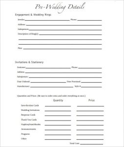 party planning template wedding party template