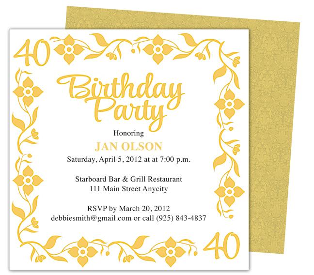 Birthday Invitation Template Word Shilohmidwifery Com