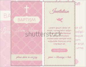passport invitations templates baptism invitation template pink