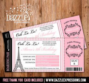 passport invitations templates parisbirthdayticketscopy