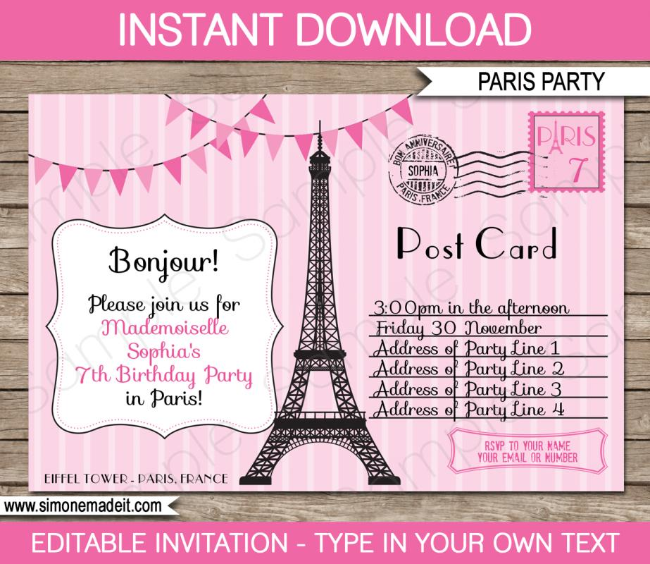 passport invitations templates