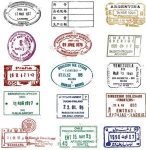 passport photo template psd passport stamp seal vector