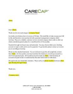 past due invoice letter carecap day past due letter generic