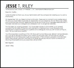 patient dismissal letter no call no show termination letter