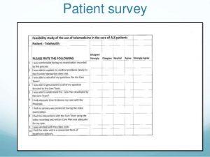 patient satisfaction survey questions presentation rebecca brittain als tele health a patient centered approach to care