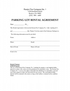 pay stub template pdf parking lot agreement template