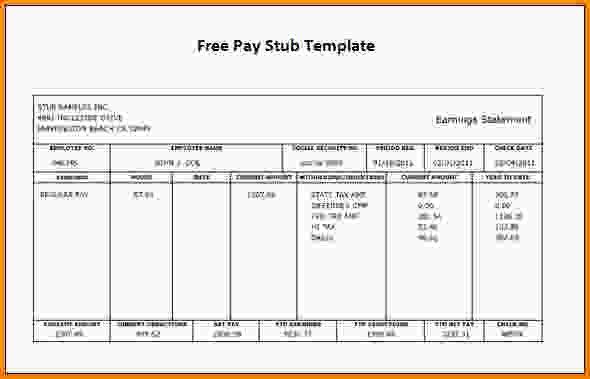 paycheck stub template