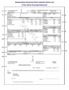 paycheck stub template pay stub template