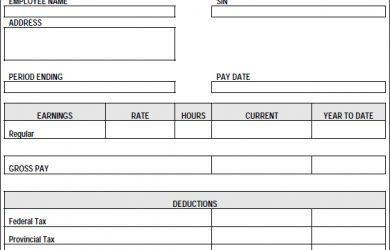 paycheck stub template pay stub template pdf