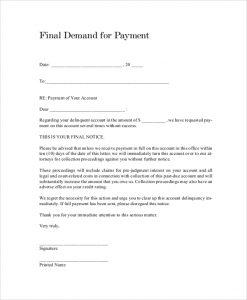 payment demand letter payment demand letter
