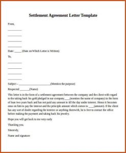 payment plan agreement template payment agreement letter payment settlement agreement letter