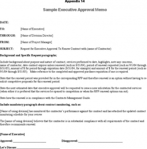 payment plan agreement template sample executive approval memo