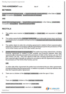 payment plan contract superannuation agreement sample
