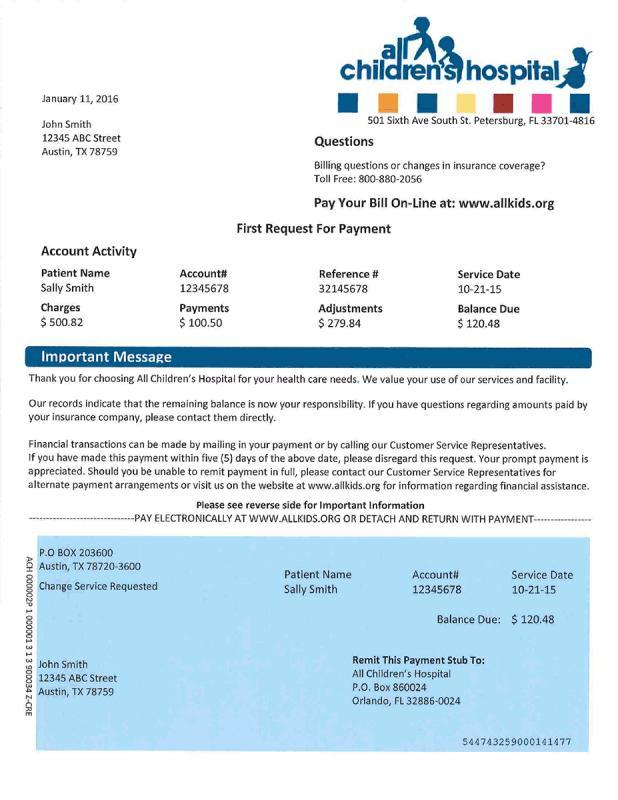 payment receipt sample