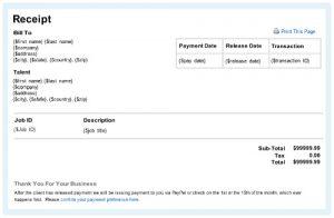 payment receipt sample online receipt