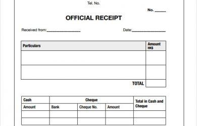 payment receipt template payment receipt sample