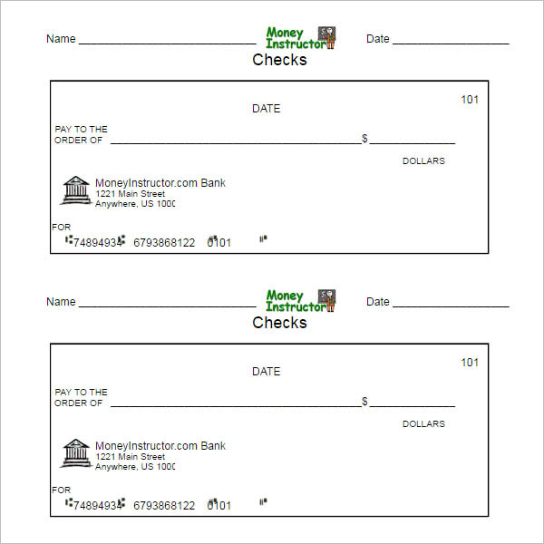 payroll checks template