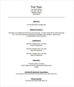 pdf resume template combination format blank resume template free pdf