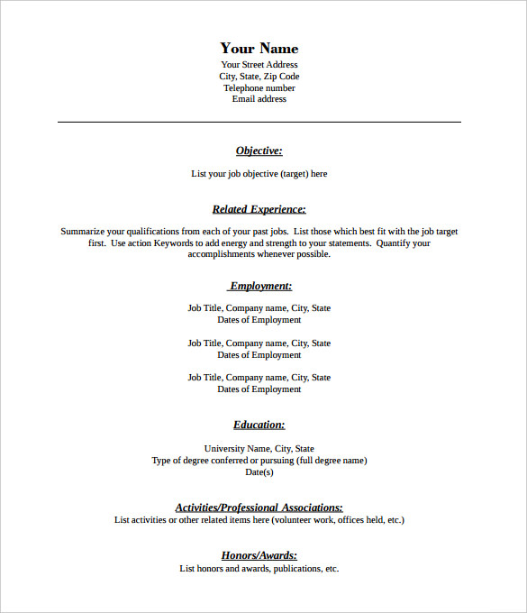 Pdf Resume Template | Template Business