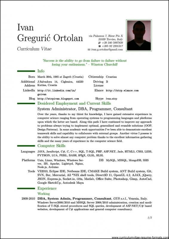 pdf resume template