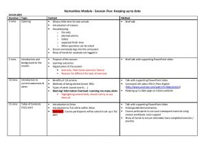 pe lesson plan template lesson plan session five keeping up to date