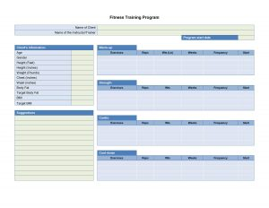 performance evaluation template training schedule template d fitness training program apawoe