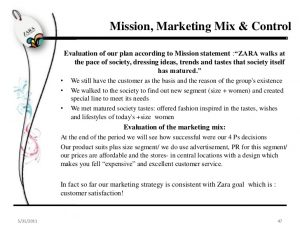 performance evaluation template zara marketing plan